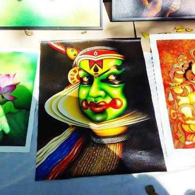 Chitrasanthe Kathakali Art Bangalore Painting Dance Artlovers Artfair Artscouting India Kerala