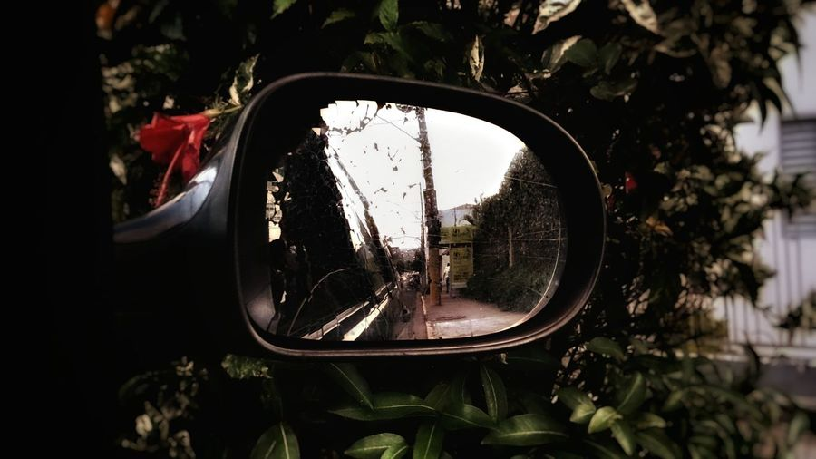 Mirror Broken Mirror Reflection Flowers Hello World Inside A Car Looking Back Taking Photos Check This Out