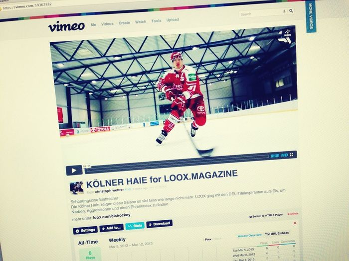 """second making.of this month about a photoshoot at the german icehockeyteam """"kölner haie"""". http://vimeo.com/59362882 Icehockey Del Loox Kölner Haie"""