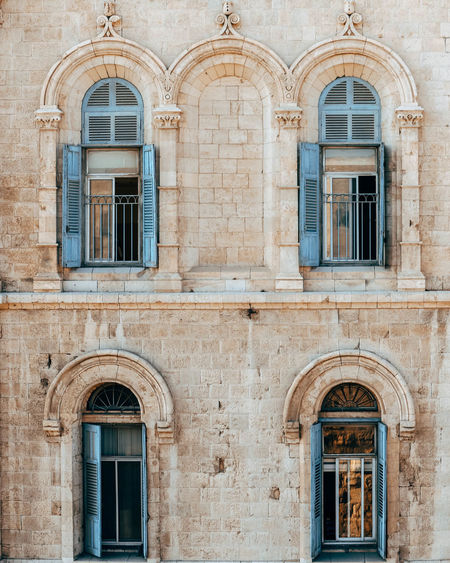 Jerusalem Stone Arch Architecture Blue Building Building Exterior Built Structure Cultures History Israel Jerusalem Old Building  Outdoors Window