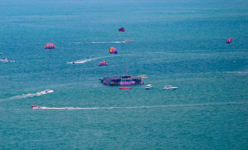 Boats In Calm Sea