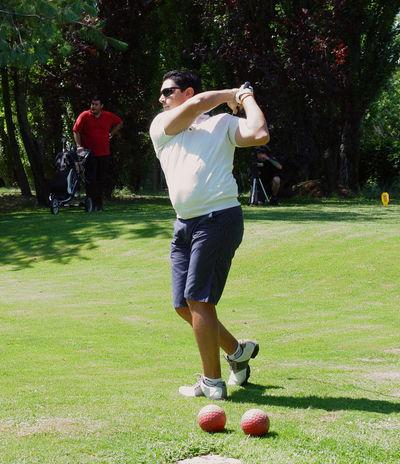 Day Full Length Golf Ball Golf Club Golf Competition Golf Course Golf Stick Golf Swing Golf ⛳ Golfer Grass Green Leisure Activity One Adult Man Only Men Outdoors Sport Standing Sunnyday 🌸🌷🌿 Trees