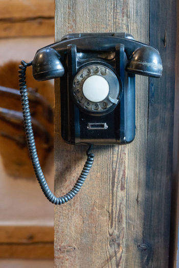 Analog Antique Cable Close-up Communication Connection Connection And Communication Connections Indoors  Landline Phone No People Nostalgia Number Old Phone Cord Retro Styled Rotary Phone Still Life Table Technology Telephone Telephone Receiver Wood - Material