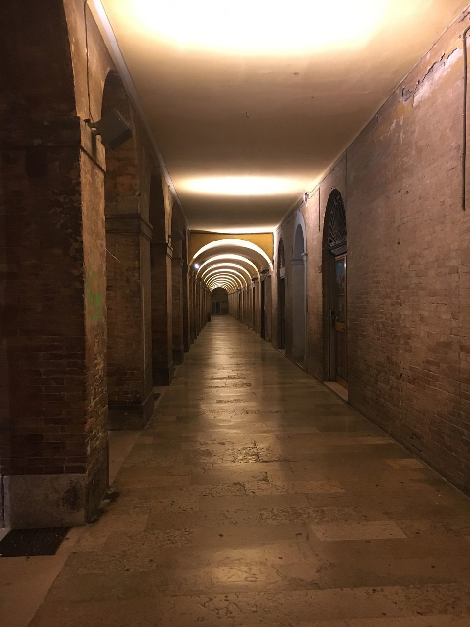 the way forward, corridor, illuminated, arch, indoors, diminishing perspective, ceiling, no people, architecture, built structure, day