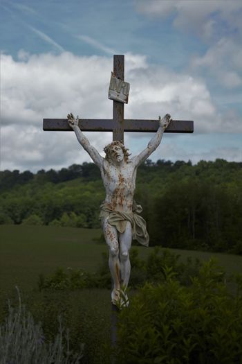HUMANITY INRI Jesus Jesus Christ Cross Crucifix Human Representation Money Religion Sacred Sacrifice