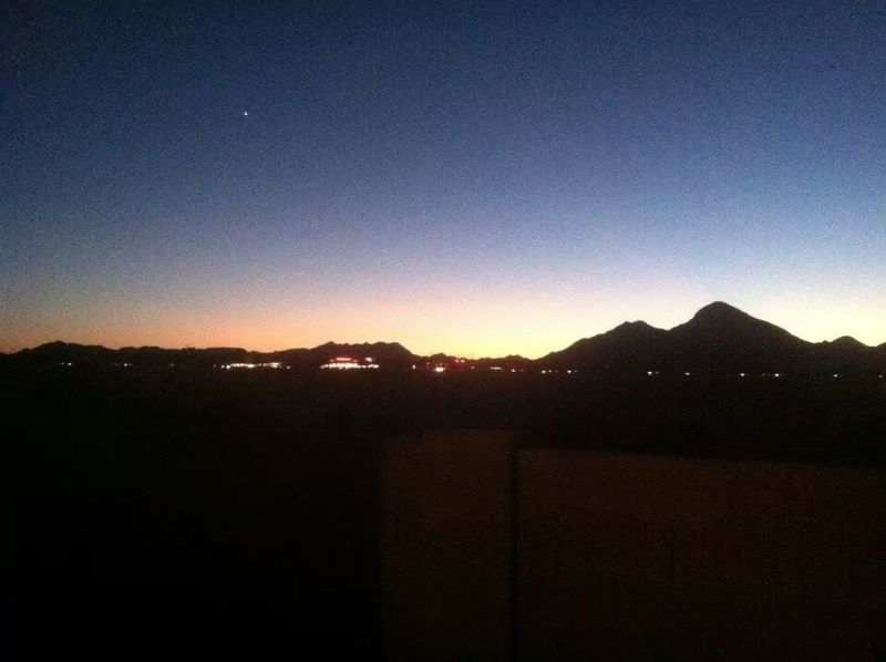 2nd picture of San Tan Mountains view from my backyard in Queen Creek, AZ