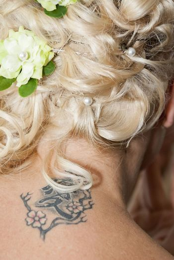 Background Blond Hair Blonde Bride Celebration Close-up Datails Event Fashion Fashion&love&beauty Flower Hairstyle Human Body Part One Person One Woman Only Only Women People Tatoo Tatoos Wedding Women