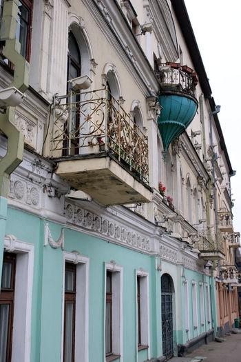 Belarus Colors Soviet Era Architecture Balcony Building Exterior Soviet Architecture