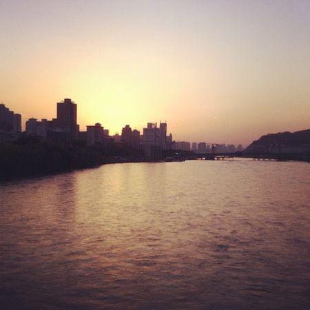Sunset on the Yellow River - Lanzhou (Gansu) China Lanzhou Gansu Sunset yellowriver