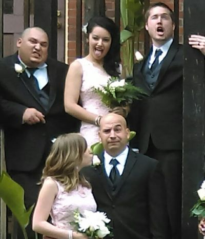 Funny faces from the wedding party!! Funny Faces Acting Silly Having Fun :) Wedding Party People Together
