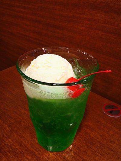 Melon Cream Soda In My Mouf Cafe Food Porn