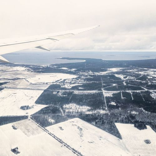Aerial View Aircraft Wing Airplane Baltic Baltic Countries Boeing 787 Boeing 787-8 Dreamliner Estonia Flying Franek Landing Landscape Lot LOT787inTLL Nature No People Poland Scenics Tallinn Tranquil Scene Transportation Travel Travel