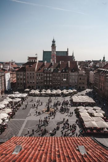 The old town. Architecture Building Exterior Tinypeople Oldtown Cityscape VSCO EyeEm Best Shots EyEmNewHere Warsaw Urban Skyline Travel Destinations Canon Large Group Of People