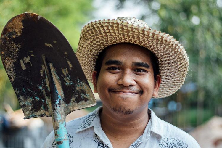 Portrait of man smiling