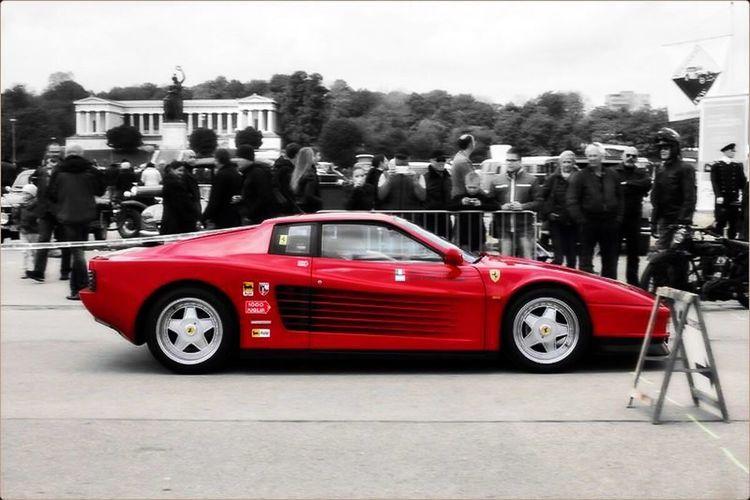 Car Red Transportation Land Vehicle Mode Of Transport Luxury Driving Outdoors Sky Day Ferrari Testarossa Ferrari