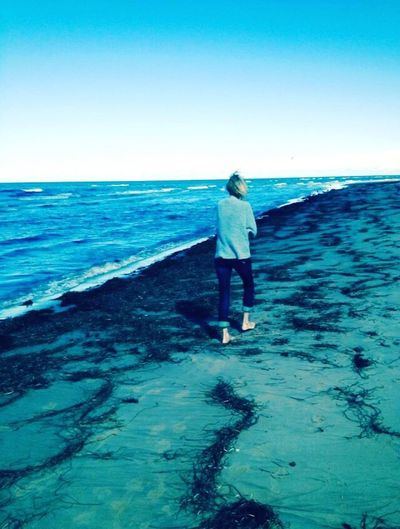 Finding Your Way Finding Your Self Creating Your Own Path Sea Horizon Over Water Full Length Water Rear View One Person Beach Real People Standing Clear Sky Walking Nature Scenics Beauty In Nature Leisure Activity Lifestyles Outdoors Women Day Sky Reconnecting  Brighter Days Ahead