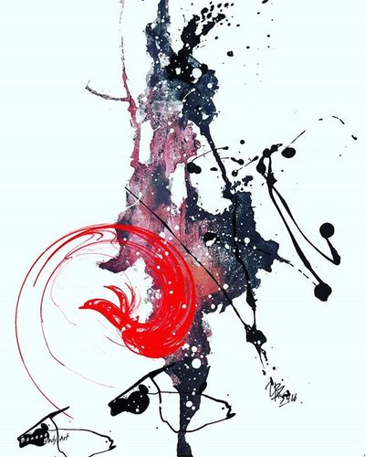 Last night art work before get sleep Abstract Abstractart Colorfull ArtWork Tattooidea Ink Splatink Tattooflash