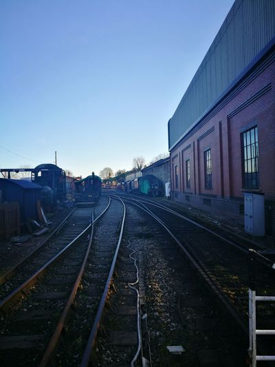 Railroad Track Rail Transportation Transportation Blue Train - Vehicle Built Structure Sky Building Exterior Outdoors No People Architecture Night Severn Valley Railway Bridgnorth Spring Has Arrived Peaceful View The Architect - 2017 EyeEm Awards The Great Outdoors - 2017 EyeEm Awards
