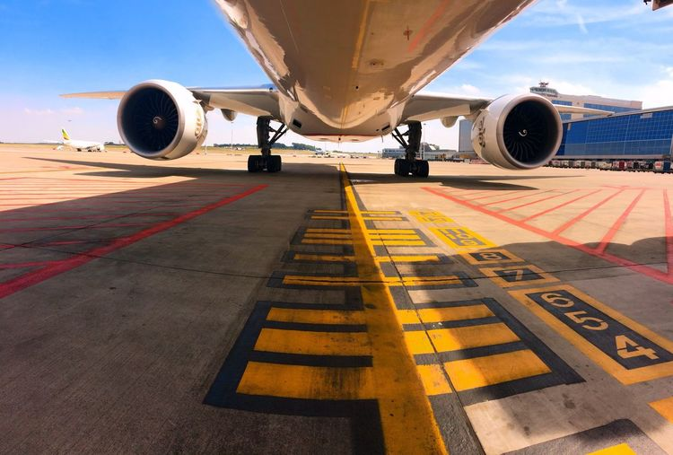 Airport Airplane Mode Of Transport Travel Jet Engine Commercial Airplane Aerospace Industry Flying Airplane Wing