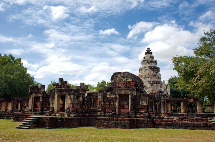 Archaeological Site Architecture Ancient Civilization Antiquities In Thailand Architecture Backgrounds Building Exterior Built Structure Day Historic Site History No People Old Ruin Old Temple Outdoors Place Of Worship Religion Sky Spirituality Travel Destinations