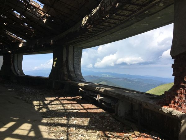Buzludza, abandoned soviet building Abandoned Buzludzha Cloud - Sky Day Europe Exploration Grandiose Landscape Mountain Mountain Range Nature No People Old Buildings Scenics Shadow Sky Soviet Sunlight Travel Destinations Travelling UFO Unexplored Ussr Window