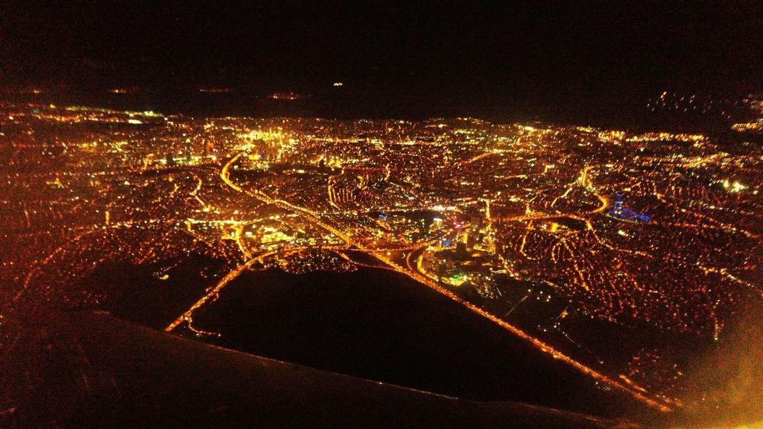 Istanbul Turkiye Night Photography Great City AirPlane ✈