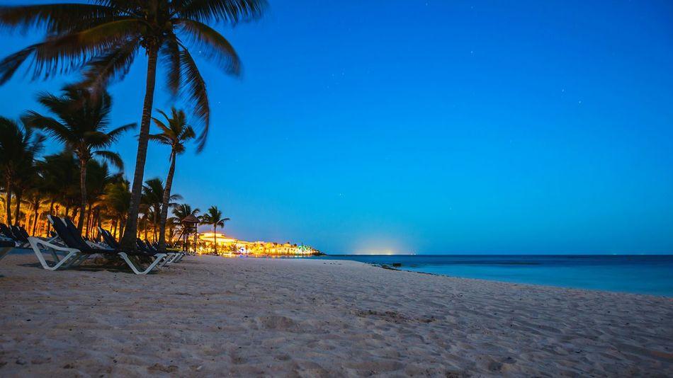 Landscape Beach Playa Del Carmen Nocturna Night