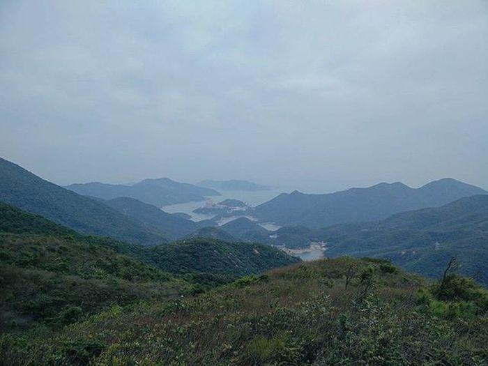 As far as the eye can see 🏞 ------ ------ ------ Mountain Hills Sea Landscape Hkig Discoverhongkong Oneplusone At Photography Instameethk EyeEm HongKong