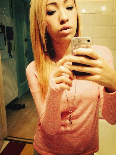 Blonde Mirror Selfie