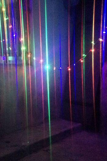 Efecto vertical. Christmas Decoration Colours Lightsatnight Lighteffect Illuminated Multi Colored Night Nightlife Glowing Lighting Equipment Light - Natural Phenomenon Electric Light Light
