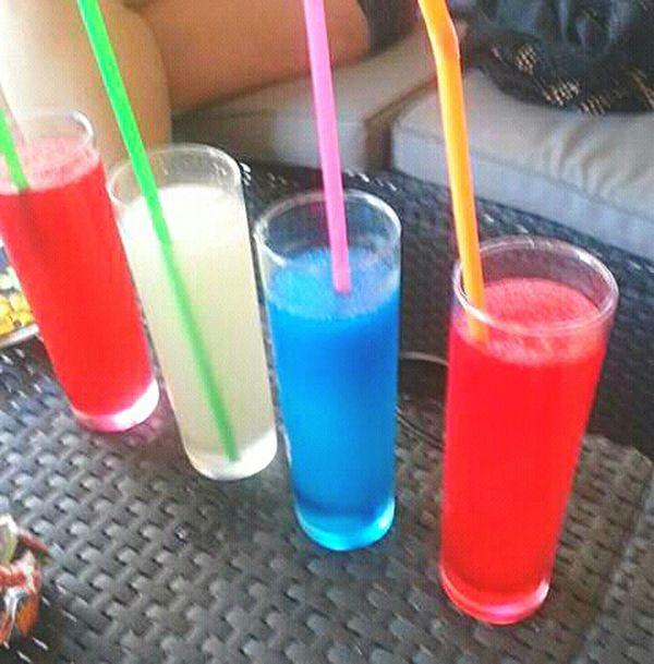 Bebida Bebidas Vaso Colores Desenfocado