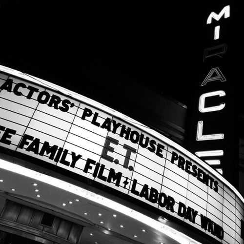 Sign Neon Theater Theatre Light Show Miracle Mile Coral Gables Monochrome Photography HUAWEI Photo Award: After Dark