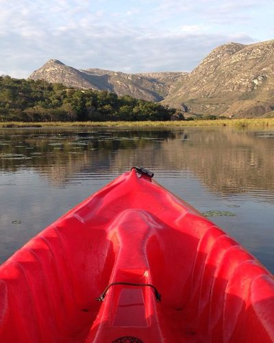 Lapinha da Serra/MG Lake Water Red Reflection Scenics Kayak Nature Outdoors Landscape Travel Destinations Adventure Mountain No People Sky Nautical Vessel Beauty In Nature Snow Day