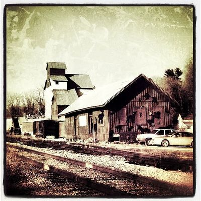 Back to the old days! #miltonvt #vt Feed_store Old_look Old Vintage Store Barn Vermont Traintracks Feed  Vt Btv Vt_scenery Milton_vt Miltonvt Vt_scene Train_tracks