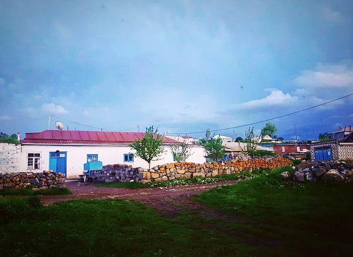Village Georgia Javakheti Nature Green Building Exterior Blue Sky