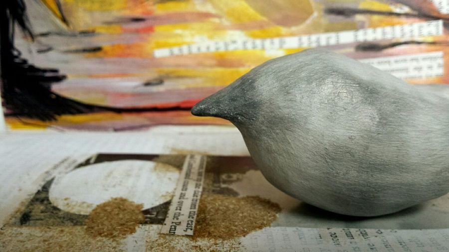 My Best Photo 2015 a few reposts coming up for this best photo category. First up is one of my bird sculptures with abstract painting composition. I'm so glad I captured this piece before I screwed it up! It may be salvadged but right now this image is quite important in terms of capturing a moment. Detail Art Bird Sculpture Bird Sculpture Simplified Beak Rounded Abstract Deceptively Simple Showcase: December Shades Of Grey Textures And Surfaces Composition Red Warm Colours Vintage Books Paper Art Paper Artist Autumn Colors Vintage Artist Painting Product Photography