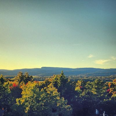 a view from the third floor of the humanities building Newpaltz Newpz Mohonk Mountains fall