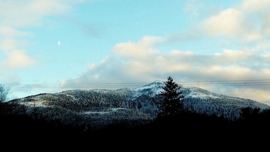 Backgrounds Snow-capped Mountain View Faint Moon Moon Wow!! Had To Taking Photos Check This Out EyeEm Nature Lover