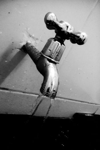 Close-up Water_collection Water Faucet, Dripping, Water, Wash, Drink, Fountain, Copper, Tile, Tile Work, Art, Faucet Blackandwhite Photography