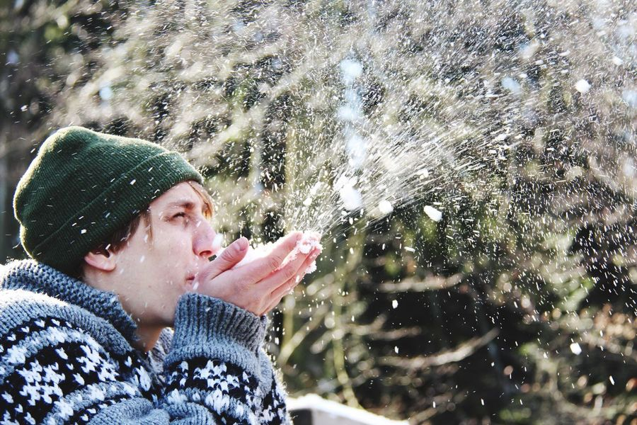 Snow One Person Weather Headshot Warm Clothing Spraying Winter Wet Motion Outdoors Splashing Drop Cold Temperature Black Forest Germany Nature Environment EyeEmNewHere