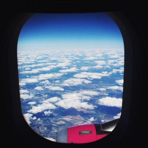 Cloudscape Travel Majestic Blue Window Clear Sky Cloud - Sky Flying Airplane Air Vehicle