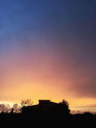 Sunset Sky Silhouette Dramatic Sky Cloud - Sky Beauty In Nature Scenics Outdoors Shade Artofvisuals Orange Purple Blue
