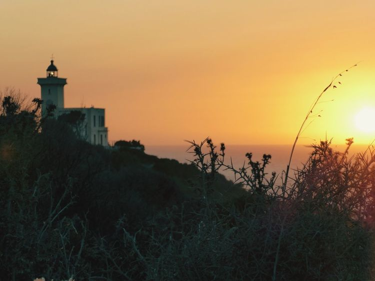 Sunset Africa Tanger  Morocco Africa EyeEm Selects Sunset Silhouette Lighthouse Dusk Travel Destinations Nature Building Exterior Outdoors Architecture Sky No People Plant Beauty In Nature Scenics Tree Night Water