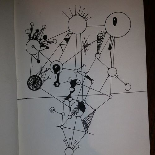 Finished version Circles Lines Arts Art Artistlag Pendrawing Drawing Abstract Abstractlinears LoveOfArt Haven 'tthoughofanameDestruction Nochainofcomand