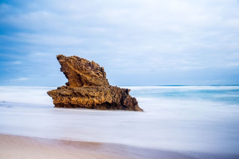 Lizard Head, a rock alone on the beach in Mornington, Melbourne . Check This Out Taking Photos Landscape EyeEm Best Shots Long Exposure Rock Beach Beach Photography Details Silky Subject