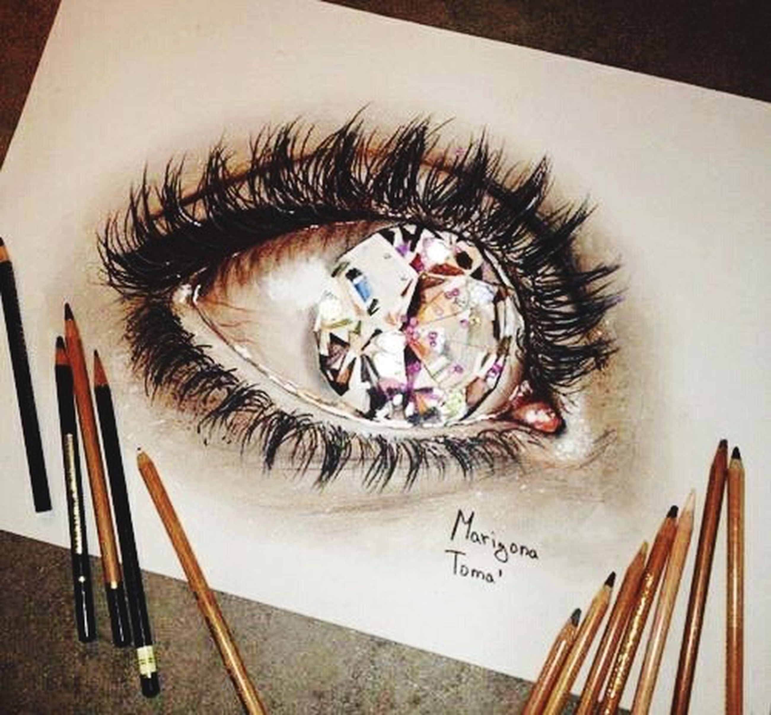 human eye, creativity, long, illustration