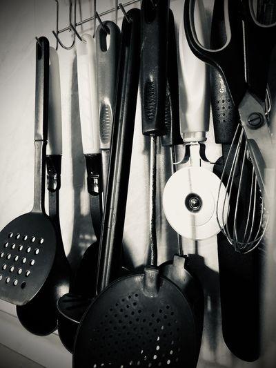 Close-up of kitchen utensils
