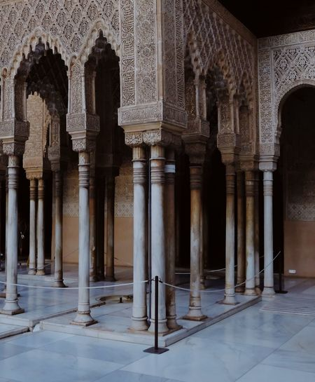 Roadtrip around Andalusia/Spain. 2nd Stop: Granada Architectural Column Architecture History Built_Structure Arch Building Tourism Travel Destinations No People Building Exterior Travel City Day Colonnade Ornate Architecture_collection Architecture Pattern, Texture, Shape And Form Ornamental Travel Photography The Week On EyeEm Editor's Picks