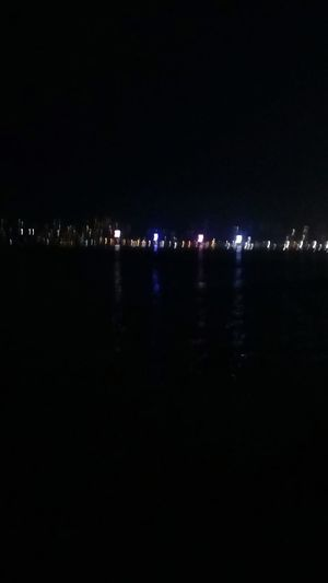 Mumbaimerijaan Queens Necklace Marine Drive Indiapictures Sea Shore Coastline Illuminated Tower Illuminated City Cityscape Copyspace Copy Space Nightphotography Seaside Reflections In The Water