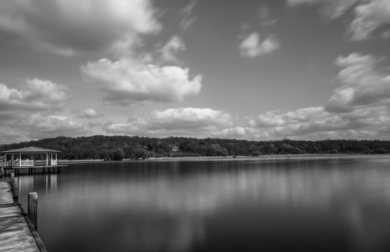 water, sky, lake, tranquility, cloud - sky, nature, outdoors, no people, day, scenics, architecture, beauty in nature, tree